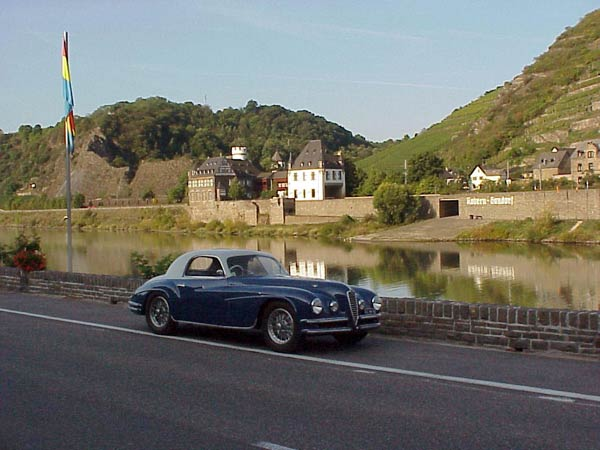 Alfa Romeo 6c 2500 Super Sport at the Mosel in Germany