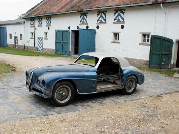 Alfa Romeo 6c 2500 Super Sport as bought from Graf Metternich